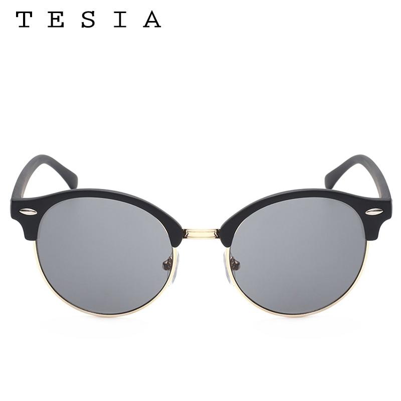 TESIA Club Runde Sonnenbrille Frauen Männer Nieten Halbrahmen Marke - Bekleidungszubehör - Foto 5