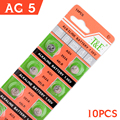 10Pcs/1card Ag5 Cell Coin Battery Durable 1.5V 393 SR754 LR754 193 546 Size 7.9*5.4mm For /Digital-watch /Clocks