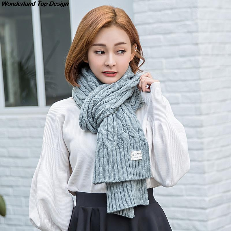 Buy Women Winter Scarf Solid Color Warm Wraps And Winter New Style Fashion