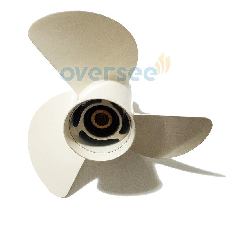 Курировать Алюминиевый пропеллер 6E5-45947-00-Эл-00 13 1/2Х15-К для установки Ямаха 85-115Л. с подвесной лодочный мотор 13-1/2х15 - к