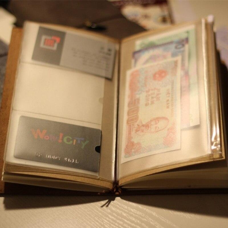 Travelers notebook traveler diary pvc zipper sheet protector ...