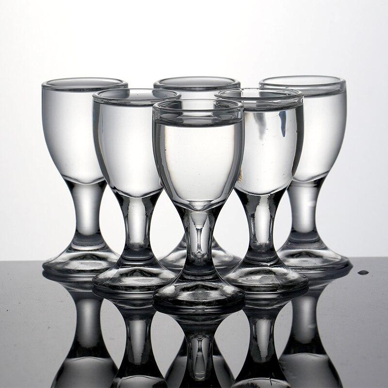 6pcs Lead Free Swallow Glass Whiskey Shot Glass Liquor Spirits Glasses Vodka For Drinks 20ml 0.7OZ Bullet Bar Firewate Cup