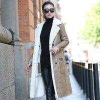 Натуральной Дубленки пальто для Для женщин Пояса из натуральной кожи барашек пальто Реверсивный двойной одежда Мех животных пальто dx0011