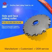 Hohe qualität seite und gesicht fräser mit metall einsätze für cnc-bearbeitungszentrum werkzeuge PT 02 12 J 50.250.24.H8