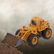 RC Trucks Mini Remote Control Bulldozer 1:64 Alloy Engineering Car Dump Truck Crane Truck Excavator Electric Vehicle Toys