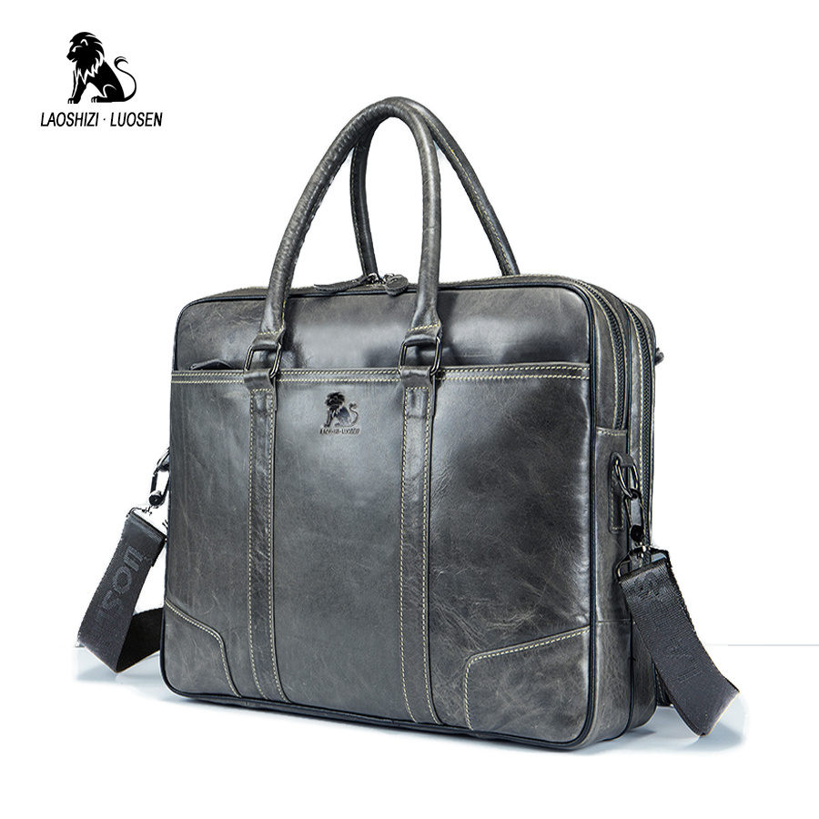 Men Genuine Leather Bag Laptop Male Business handbag messenger bag Cow Leather Large Travel cow Leather Shoulder Bags Briefcase genuine leather men bags brand men laptop briefcase business bag cow leather handbag shoulder bag messenger bag 1a