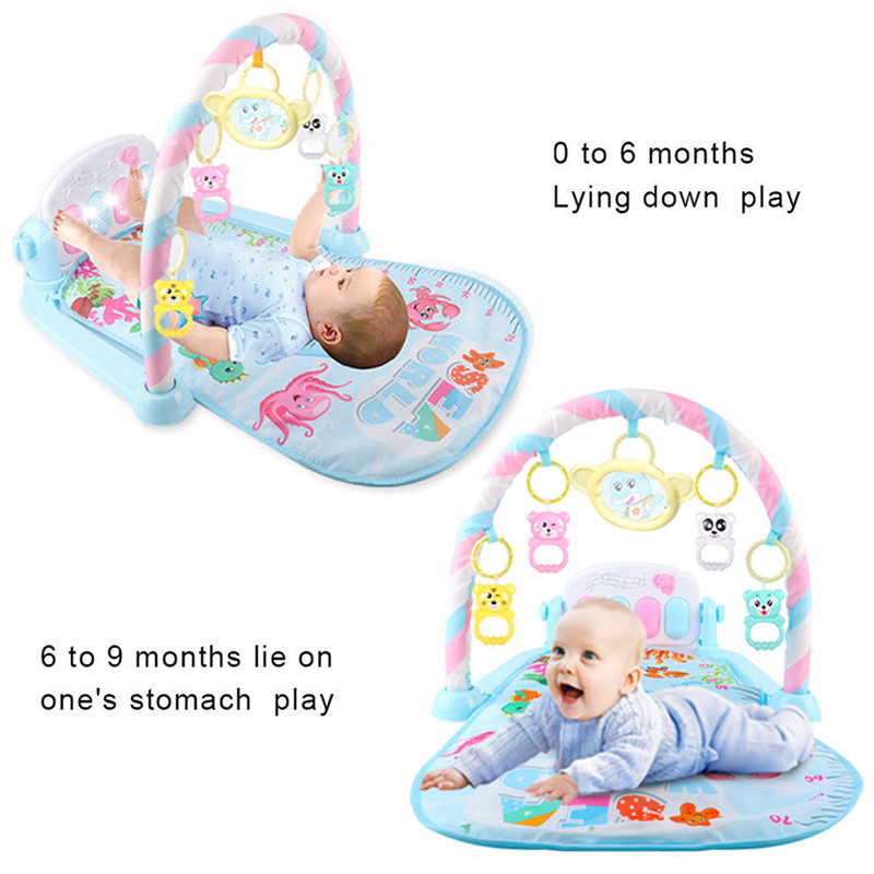 Baby Activity Gym Children's Play Mat Developing Carpet Soft Rattles Musical Toys Activity Rug For Babies Games 0-12 Months | Happy Baby Mama