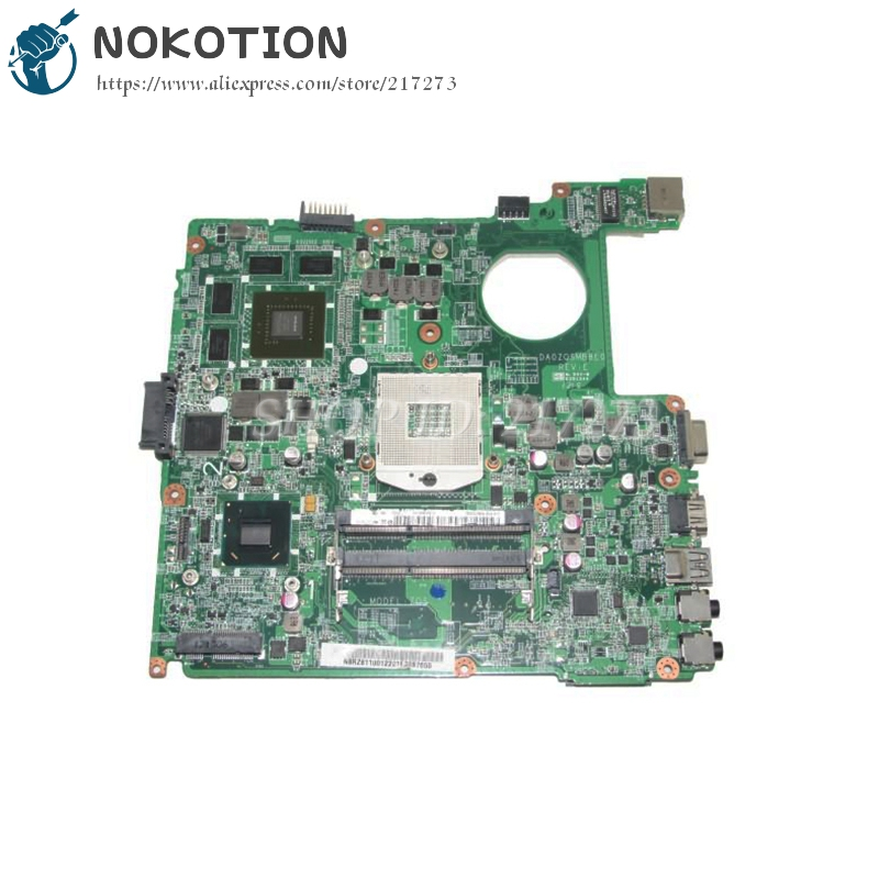NOKOTION Laptop Motherboard For Acer E1 431 E1-471G E1-431G E1-431 Main Board NBRZ611001 DA0ZQSMB8E0 kefu dazqsamb6f1 for acer e1 471 e1 471g aspire dazqsamb6f1 laptop motherboard ddr3 e1 471 mainboard 100% tested motherboard