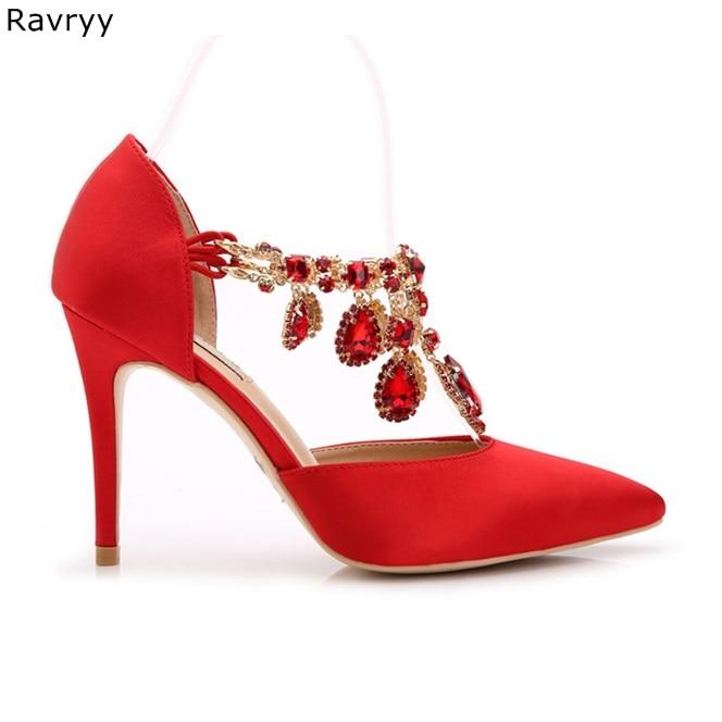 Bombas Rhinestone Mujer Señaló 5cm 9 Niza Zapatos Tacones Altos 4cAL3RSjq5