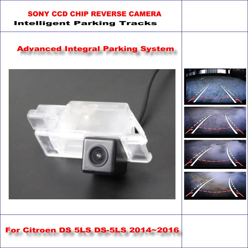 860 * 576 Pixels Back Up Camera For Citroen DS 5LS DS-5LS 2014~2016 Rearview Parking / 580 TV Lines Dynamic Guidance Tragectory