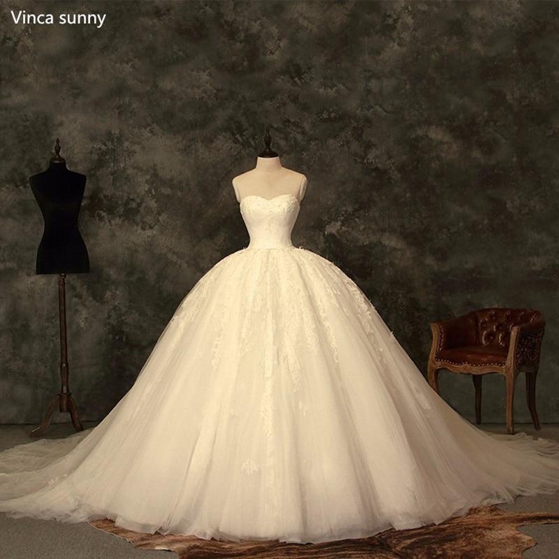 Princess Ball Gown Vintage Wedding Dresses cinderella bridal gowns robe de mariage 2018 trouwjurk vestido de noivas fotos reais