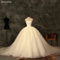 Princesse robe de Bal Vintage Robes De Mariée cendrillon robes de mariée robe de mariage 2018 trouwjurk robe de noivas fotos reais