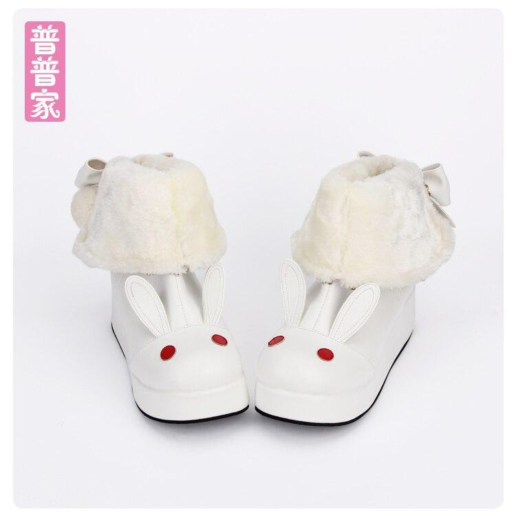 Здесь продается  Princess sweet punk shoes Handmade Japanese winter boots with cashmere purpose COS animation Lolita platform boots pu8606  Обувь