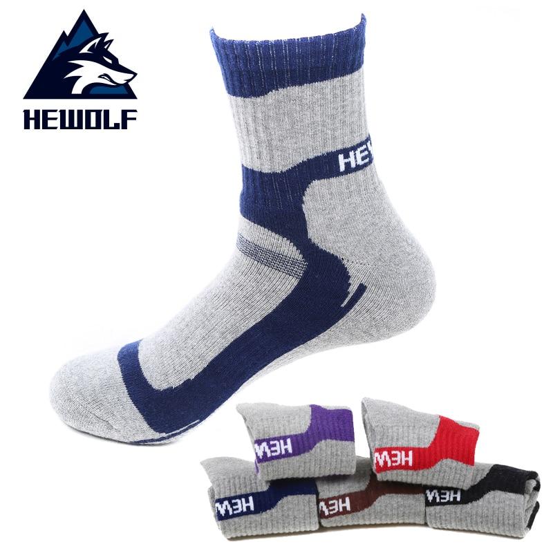 Hewolf Breathable Camping Trekking Skiing Running Hiking Socks Professional Sports Socks Man Women