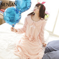 Warm Winter Girl's Fleece Flannel Night Gown Sweet Peter Pan Collar Nightdress/Lounge Wear