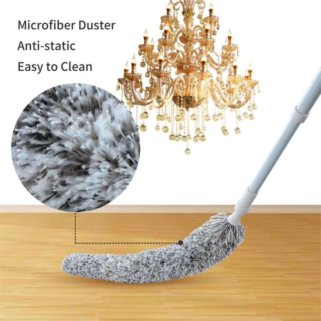 Creative Stretch Extend Microfiber Dust Shan Adjustable Feather Duster Household Dusting Brush Cars Cleaning Kitchen Accessories in Dusters from Home Garden