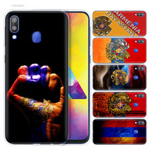 Silicone Case for Samsung Galaxy S10 S10e S10 5G Plus M10 M20 M30 A10 A20 A30 A40 A50 A70 Armenia Armenians Flag Print TPU Cover(China)