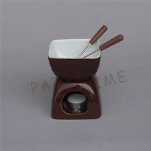 Керамика шоколадный цвет фондю квадратный сыр теплее шоколад горшок