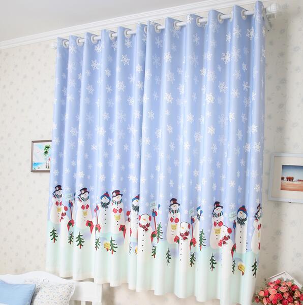 Schnee mann Vorhänge Weihnachten Vorhang für Wohnzimmer Kinder ...