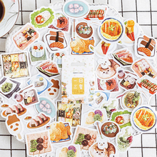 Delicious Food Sushi Meals Decoration Adhesive Stickers Diy Cartoon Diary Scrapbook Kawaii Stationery Stickers kawaii my neighbor totoro cartoon 3d stickers diary sticker scrapbook decoration pvc stationery stickers