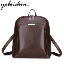 YABESHINI Brand Vintage Women Backpack Pu Leather Female Backpacks Rucksack Mochilas Mujer School Bags For Teenage Girls famous brand backpack for women backpacks vintage school bags for girls black leather backpacks mochilas mujer 2017 bd 151
