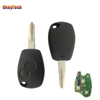 OkeyTech 2 Buttons 433MHz PCF7946 Chip Remote Control Auto Car Key Fob Uncut Blade For Renault