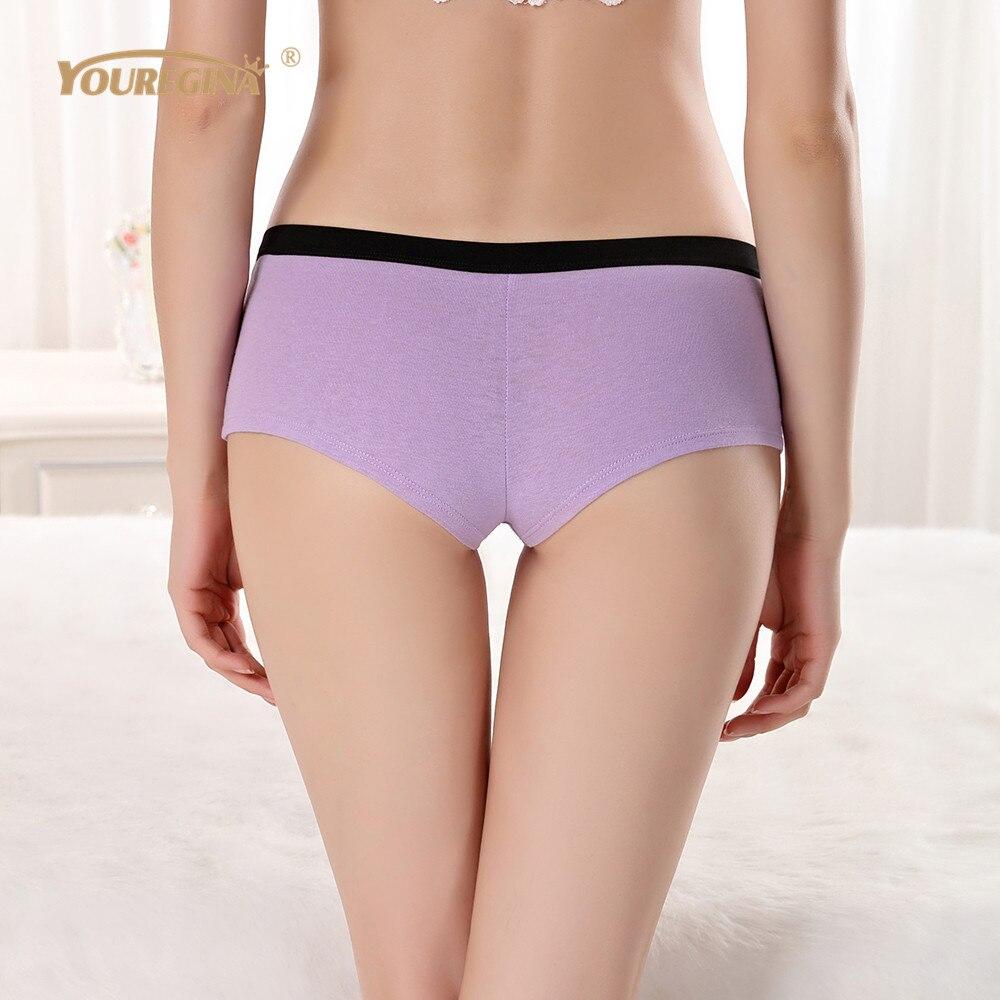 YOUREGINA Cotton Panties Women's Boyshort Ladies Underwear Female Patchwork Breathable Shorts Low Waist Boxers 6pcs/lot M L XL