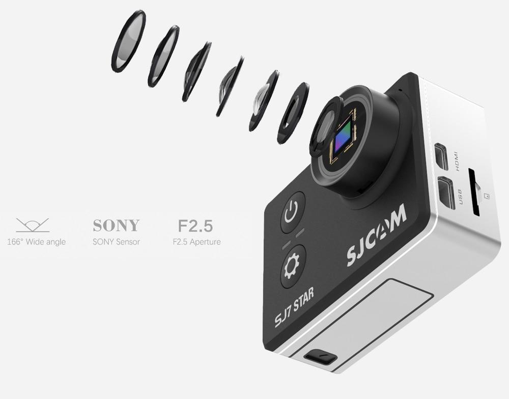 100 Original SJCAM SJ7 STAR Wifi 4k 2 Touch Screen Ambarella A12S75 30M Waterproof Remote Sports Action Camera Car Mini DVR In Video