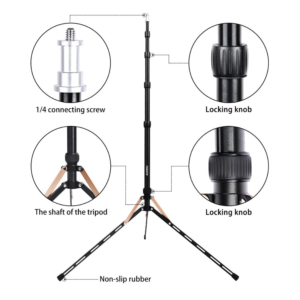 Image 3 - Fusitu FT 190B 2.2m Led Light Stand Portable Tripod Head Softbox For Photo Studio Photographic Light Flash Umbrellas Reflector-in Live Tripods from Consumer Electronics