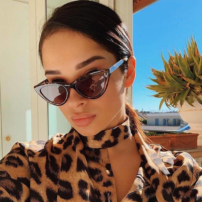 2019 Cat Eye Fashion Sunglasses Women Fashion Vintage Small Glasses Woman Mirror Sunglasses Female Brand Designer Retro