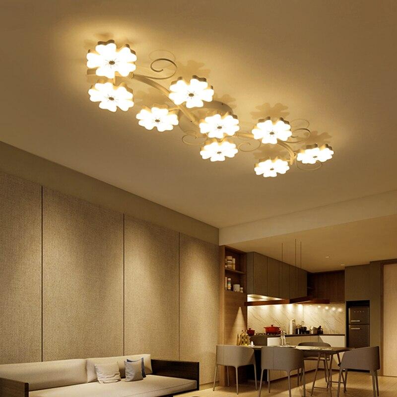 Plum Blossom Kreative Moderne Led Deckenleuchten Fur Wohnzimmer