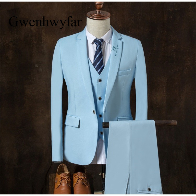 High Quality Blue Grrom Men Suits Fashion Electrocardiogram ...