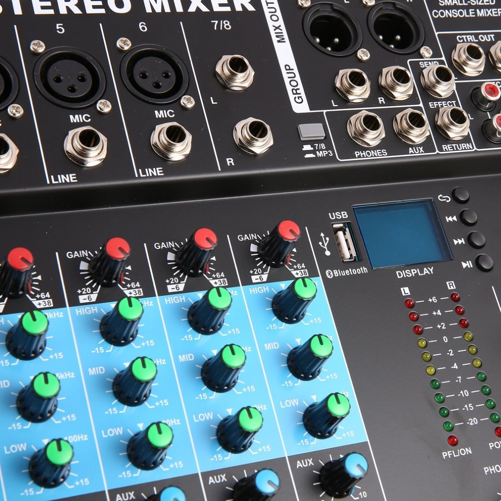 Ct8 8 Channel Professional Stereo Mixer Live Usb Studio Audio Sound Console Network Anchor Device Vocal Effect Processor In Karaoke Player From Consumer