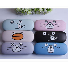LIUSVENTINA High Quality Cute Cartoon Mole Mouse Eyes Expression Frame Glasses Box Sunglasses Case Gift for Girls and Friends(China)