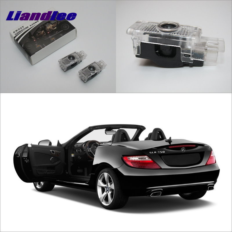 Liandlee Plug and Play Car Courtesy Doors Lights For <font><b>Mercedes</b></font> <font><b>Benz</b></font> L <font><b>SLK</b></font> 2006 / Projector Welcome Light Ghost Shadow Lamp image