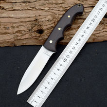 Survival Knife HERBERTZ Pocket Fixed 5CR13MOV Steel Blade Knifes Wood Handle Hunting Tactical Knives Camping Outdoor EDC Tools