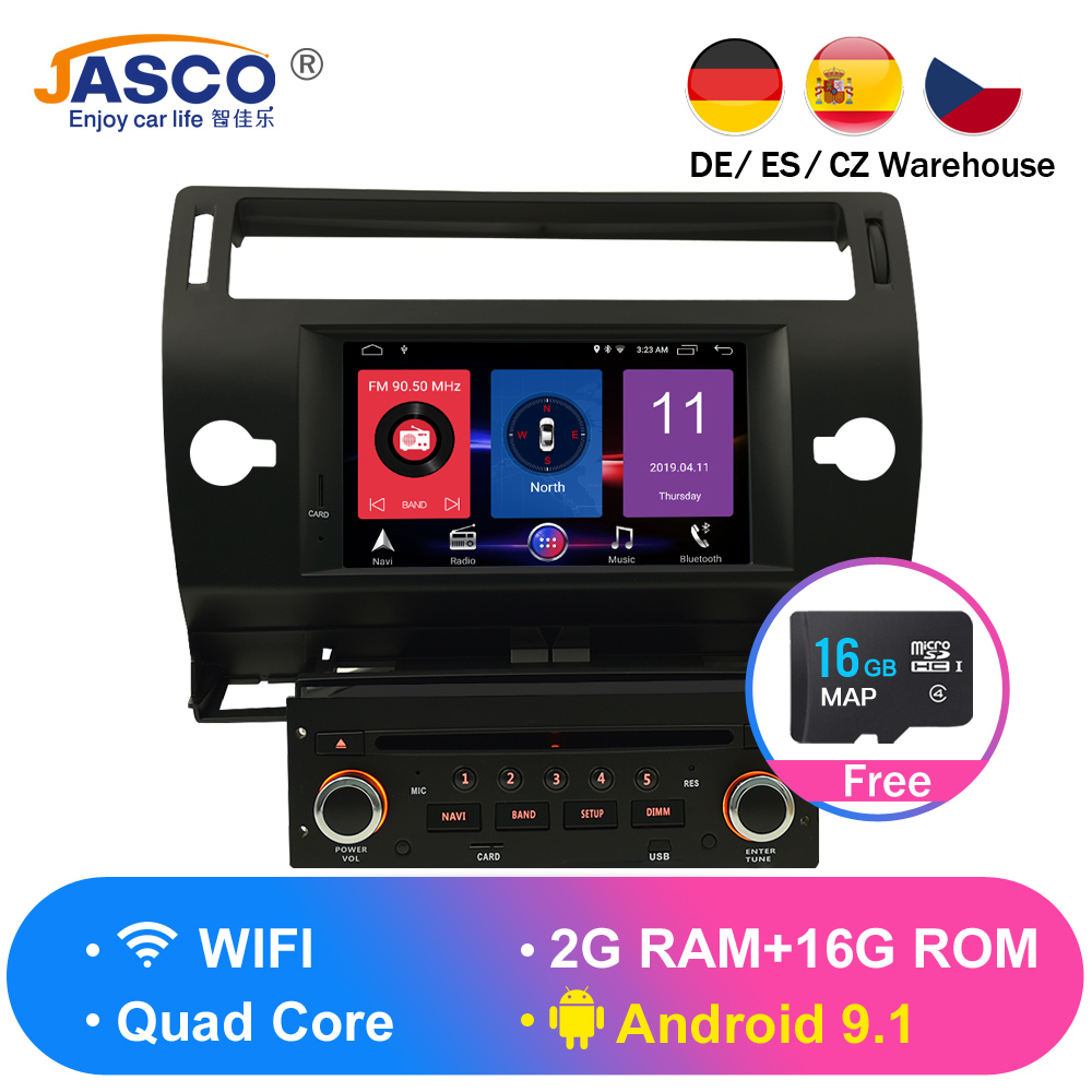 Android 9.0 Jogador Do Carro DVD GPS Navi para Citroen Glonass C4 C-C-Quatre Triunfo 2005 2006 2007 2008 2009 de Rádio De Áudio Estéreo