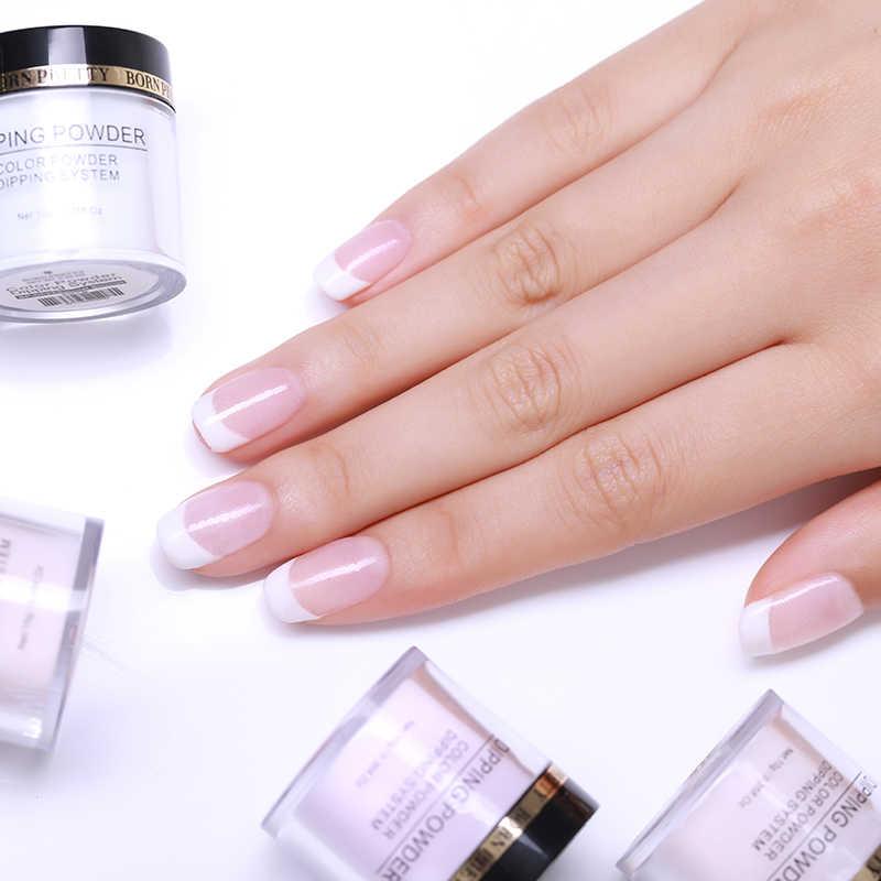 BORN PRETTY trempage ongles poudres dégradé français ongles couleur naturelle holographiques paillettes sans lampe Cure Nail Art décorations