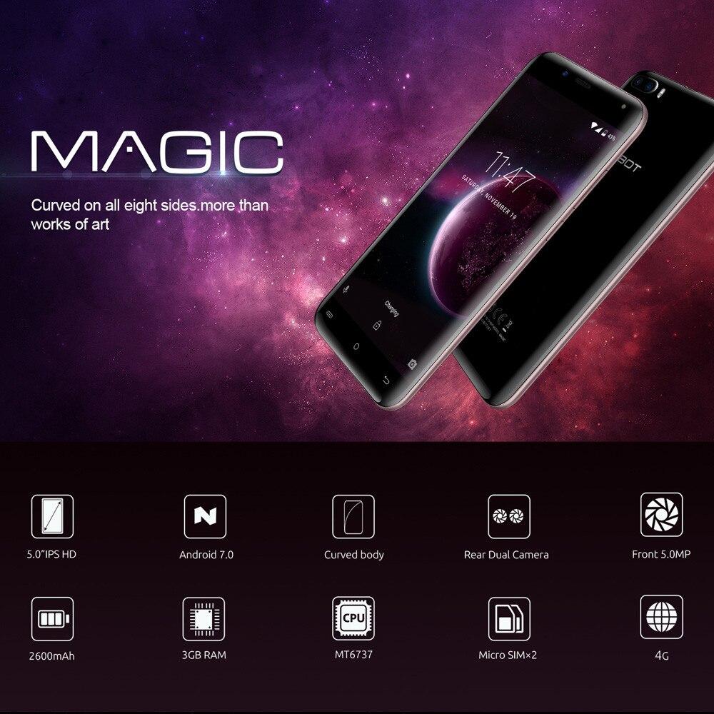 Cubot Magic MT6737 четыре ядра Android 7,0 3 ГБ + 16 ГБ смартфон 5,0 дюймов HD Дисплей Apr19
