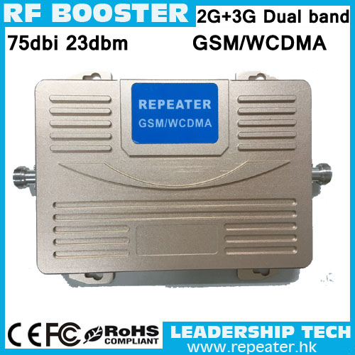 GSM/WCDMA 900mhz/2100mhz Dual Band Mobile Phone Cell Phone 1W 2G 3G Signal Repeater Booster Amplifier 27dbi 75dbi Big Power