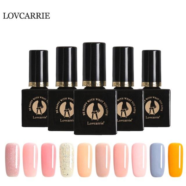 Lovcarrie Nude Pink Natural Series Nail Gel Nail Art Uv Vernis Semi Permanent Gel Varnish Manicure Gel Lacquer Gelpolish Gellak