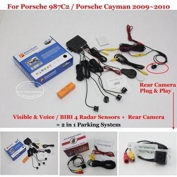 Car Parking Sensors Auto Rear View Back Up Sensor Alarm System Reverse Camera For Porsche 987C2 / Porsche Cayman 2009~2010
