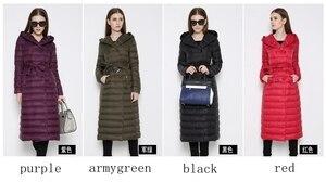 Image 4 - NewBnag Brand Long Down Women Duck Down Jacket Winter Coat Woman 2018 Feather Warm Slim Windbreaker Female Hooded Outerwear
