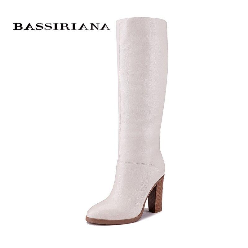 BASSIRIANA di Inverno di Modo casuale Stivali principessa dolce delle donne di avvio di Alta-scarpe col tacco alto moda stivali a Metà polpaccio