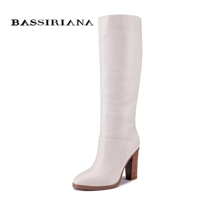 BASSIRIANA أزياء الشتاء أحذية كاجوال الأميرة الحلو النساء التمهيد عالية أحذية بكعب الأزياء منتصف العجل الأحذية-في بوت للركبة من أحذية على  مجموعة 1