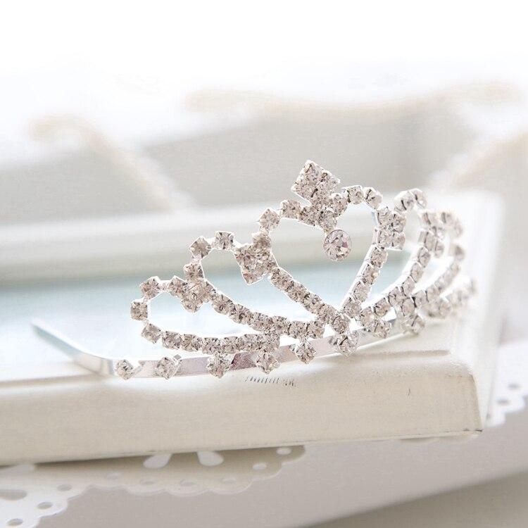 Rhinestone Small Tiara Little Girls Party Hair Crown Tiara Clear Stone Hair Comb Accessories
