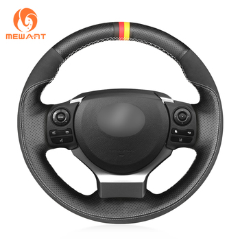 MEWANT Black Suede Genuine Leather  Car Steering Wheel Cover for Lexus IS200t 2016 2017 IS250 2014 2015 IS300 IS350 IS F-Sport