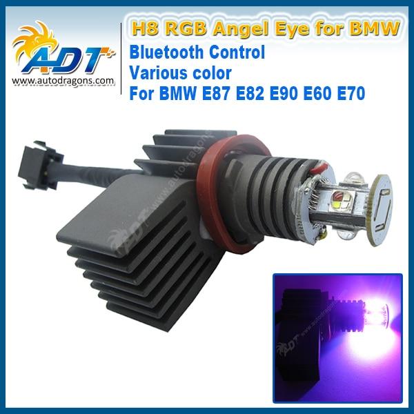 Super Cool pour BMW E92/H8 40 W indicateur LED avec les lumières mobiles de Halo d'oeil d'ange de Cr rvb par les phares sans erreur de Canbus de dent bleue