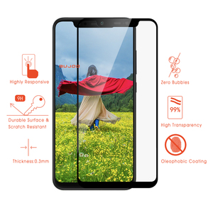 Image 3 - 100% Original BUJOO altamente sensible 2.5D funda completa templada Glass para Xiaomi mi 8 Xio mi 8 9H 0,3mm película protectora de pantalla