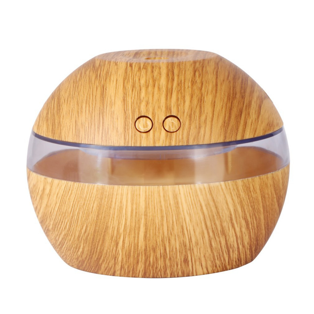 300ML Mini Air USB Ultrasonic Humidifier wood grain Aroma Diffuser Essential Oil Diffuser Aromatherapy mist maker with LED Light